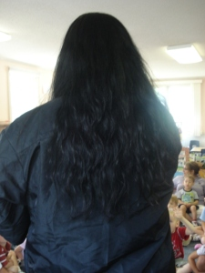 Hamburg EduKids Center Director Kim Stewart's Hair Before